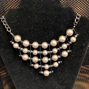 Jewelry - Vintage Gray Pearl silver necklace